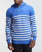 Men - Pullover Striped Hoodie