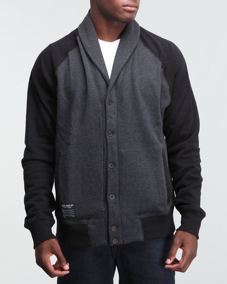 Rocawear Men Grey Cross Bronx Cardigan