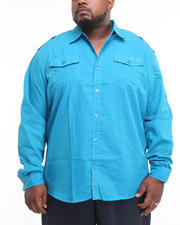 Men - Major Steel Roll Up Long Sleeve Solid Shirt (B&T)