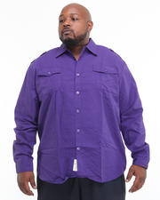 Shirts - Major Steel Roll Up Long Sleeve Solid Shirt (B&T)