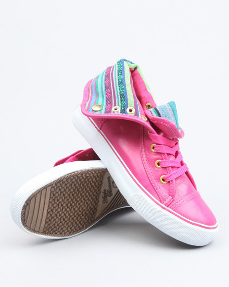 Apple Bottoms - Women Pink Elois Aztec Trim Sneaker - $12.99