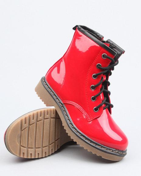 La Galleria Girls Red Jane Boot (Youth)