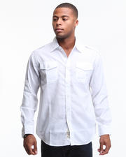 ***HOT Shop - Major Steel Roll Up Long Sleeve Solid Shirt
