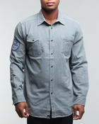 Men - Railroad Striped Button-Down