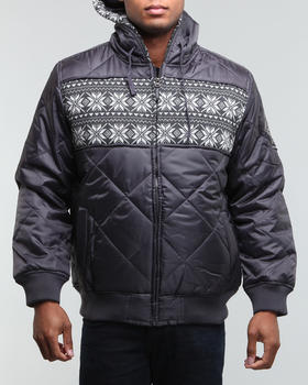 MO7 - Pad Quilted zip hoody jacket