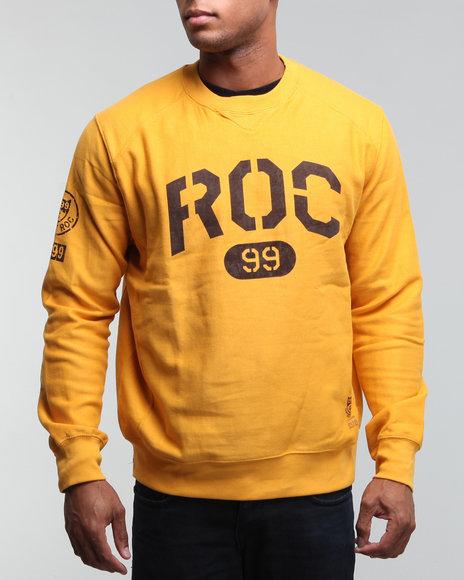 Rocawear Men Gold Freeman St L/S Crewneck Sweatshirt