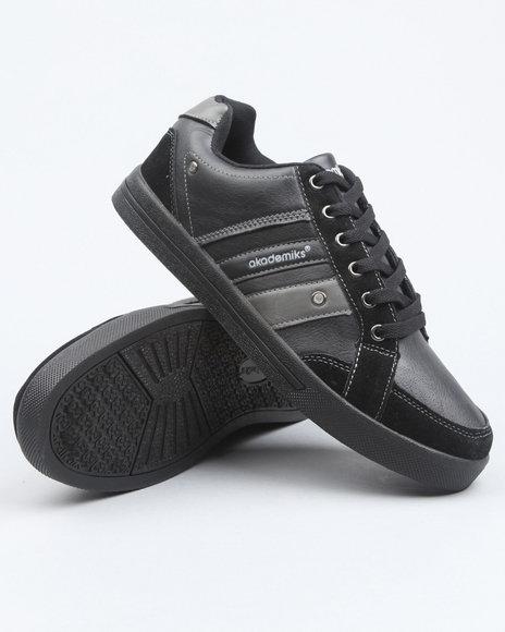 Akademiks Men Black Akademiks Basic Lowtop Sneaker