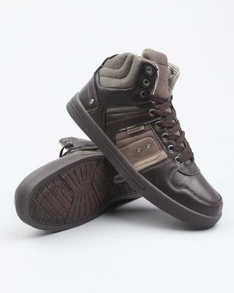 Akademiks Men Brown Akademiks Houndstooth Hightop Sneaker