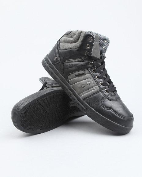 Akademiks Men Black Akademiks Houndstooth Hightop Sneaker