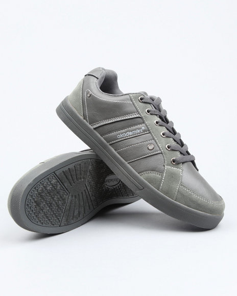 Akademiks Men Grey Akademiks Basic Lowtop Sneaker