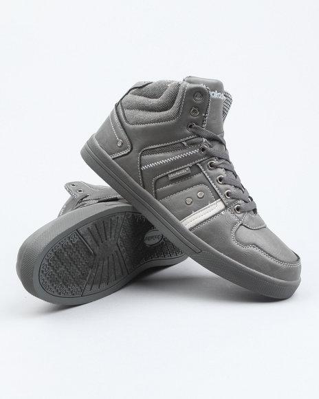 Akademiks Men Grey Akademiks Houndstooth Hightop Sneaker