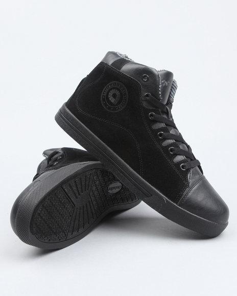 Akademiks Men Black Akademiks Cap Toe Hightop Sneaker