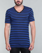 Men - Engineer Thick Stripe v-neck tee