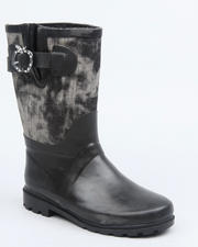 Girls - Apple Buckle Denim Trim Rainboot