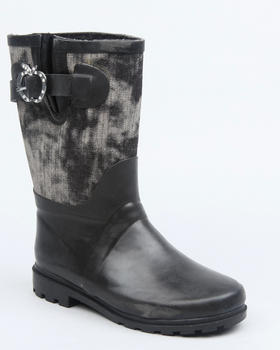 Apple Bottoms - Apple Buckle Denim Trim Rainboot
