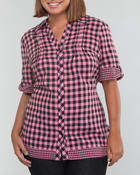Polos & Button-Downs - Plaid large shirt