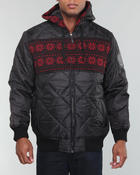 Men - Pad Quilted zip hoodie jacket