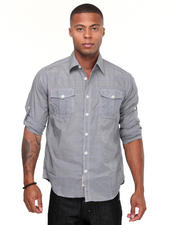 Men - Carter Roll Up Long Sleeve Plaid Shirt