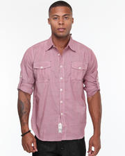 Button-down - Carter Roll Up Long Sleeve Plaid Shirt