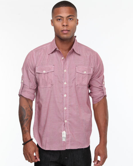 - Carter Roll Up Long Sleeve Plaid Shirt