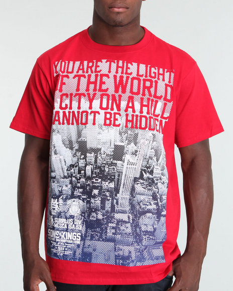 Mecca Men Red Fade Out Tee
