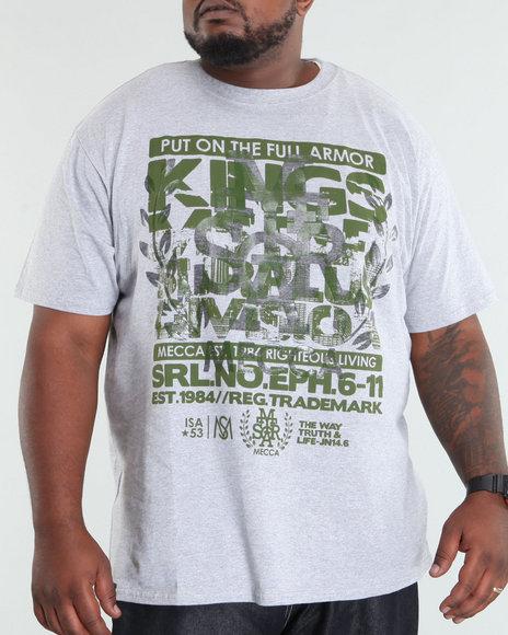 Mecca Men Grey Full Armor Tee (B +T)