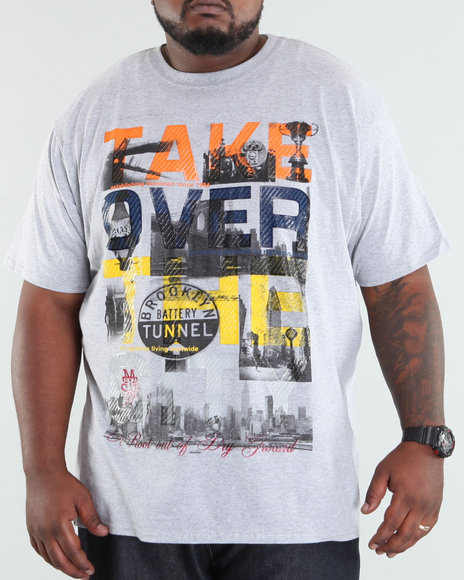 Mecca Men Grey Take Over Tee (B +T)