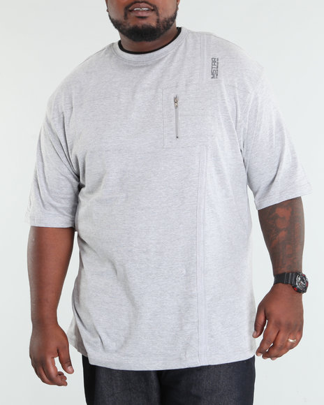 Mecca Men Grey Lohan Short Sleeve Knit