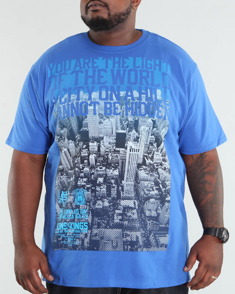 Mecca Men Blue Fade Out Tee (B +T)
