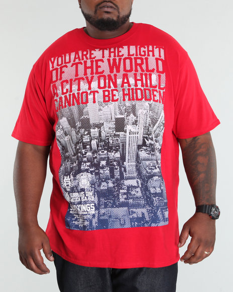 Mecca Men Red Fade Out Tee (B +T)