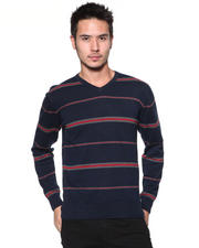 DJP OUTLET - 12GG All Over Striped V-Neck Sweater