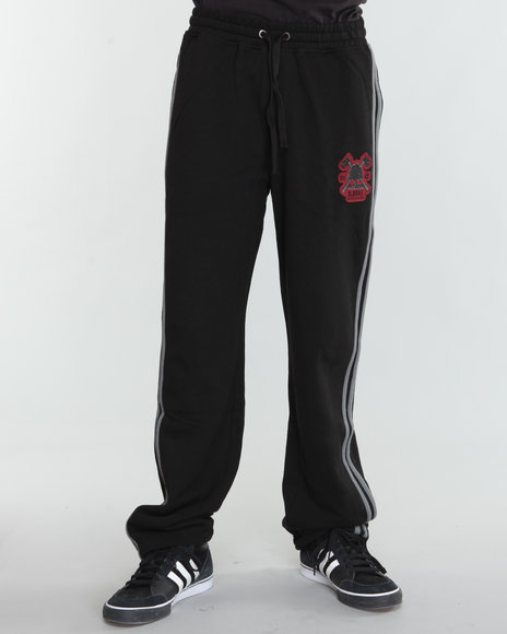 Lrg Men Black Rockwood Fleece Pants