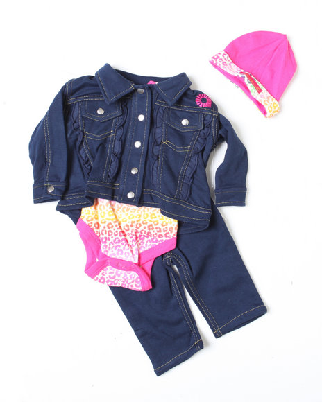 - 4pc Denim Set (NB)