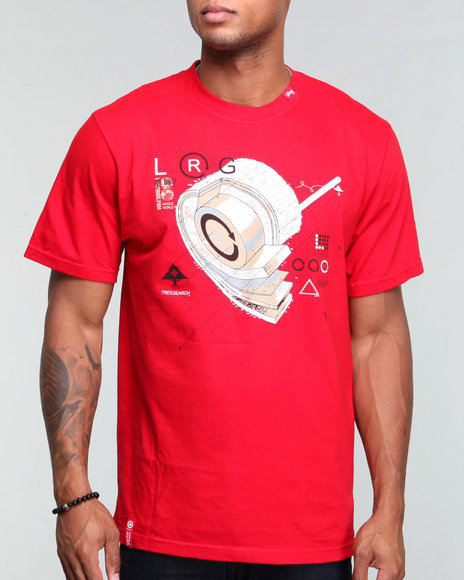 Lrg Men Red L R G Dissection S/S Tee