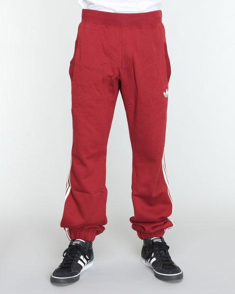 Adidas Men Maroon Fleece Track Pant Sweatpants