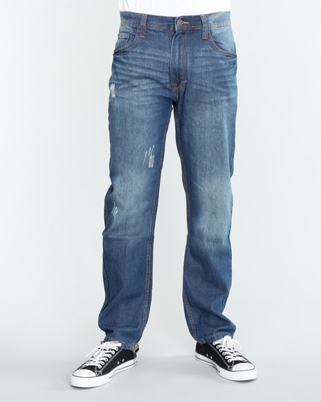 Akademiks Light Wash Billboard Emb Denim Jeans