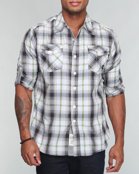 prospector rollu p plaid l/s button down