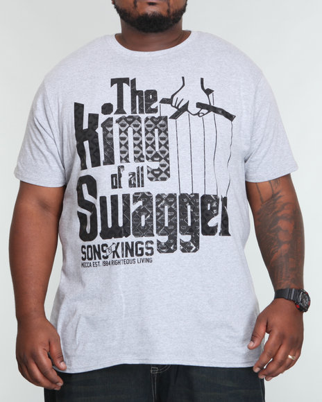 Mecca Men Grey Swagger Tee (B+T)