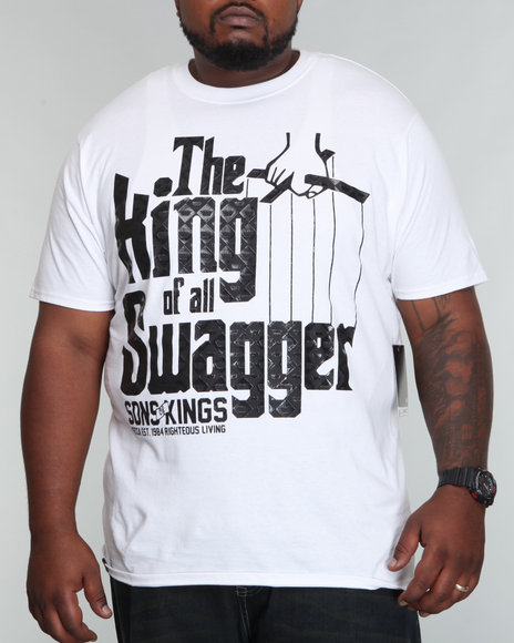 Mecca Men White Swagger Tee (B+T)
