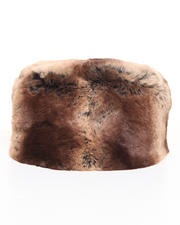 Hats - Faux Brown Chinchilla pillbox hat