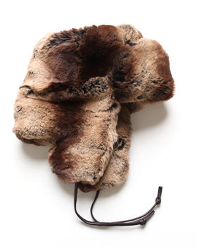 DJP Boutique - Faux Brown Chinchilla Trapper Hat