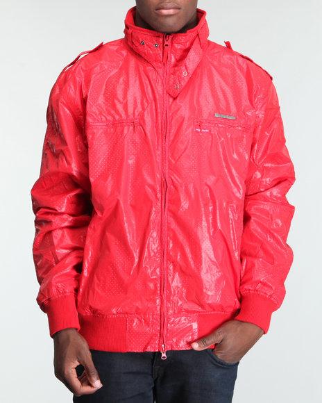 Live Mechanics Men Red Victors Perforat Jacket