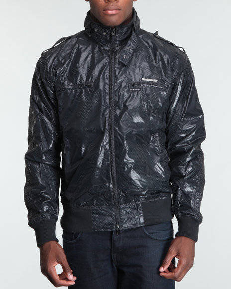 Live Mechanics Black Victors Perforat Jacket
