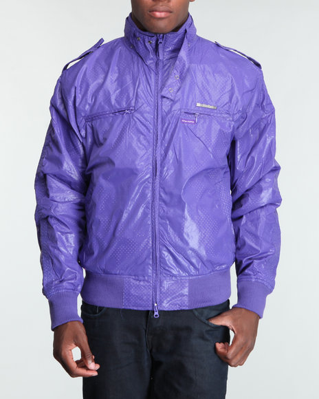 Live Mechanics Purple Victors Perforat Jacket