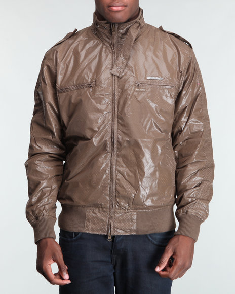 Live Mechanics Brown Victors Perforat Jacket