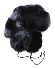 Hats - Faux Black Fox Trapper Hat