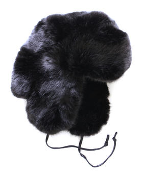 DJP Boutique - Faux Black Fox Trapper Hat