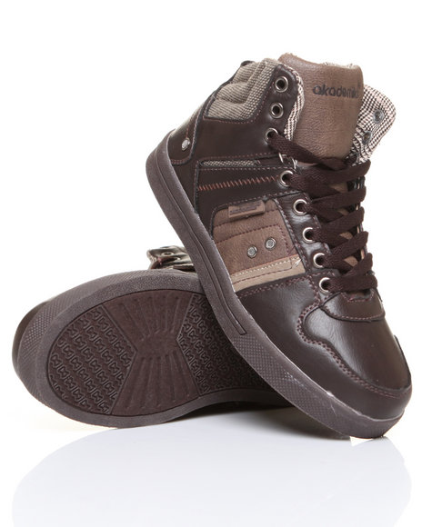 - Hi-Top Leather Sneaker (Boys 3.5-7)