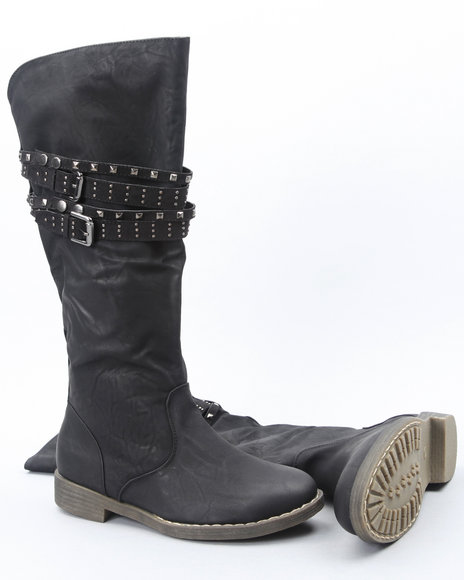 Fashion Lab Women Black Sultan Boots