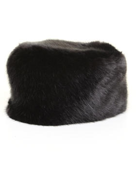 DJP Boutique - Faux Black Fox chinchilla pillbox hat